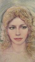 Akt Weiblich Popart Pop Bild Malerei Aquarell Gefrostet Jahre '80 P35