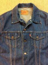 LEVI STRAUSS Medium 40 Blue Denim Jacket Jean Vintage Slim Trucker 70500 VGC