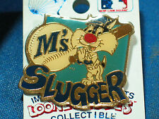 Seattle Mariners pin  Sylvester Baseball Pin Looney Tune ***Dated 1991