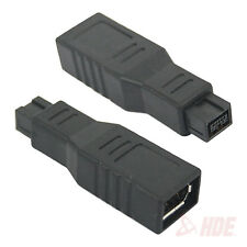 New IEEE 1394 6 Pin Female to 9 Pin Male M/F Firewire Adapter Converter