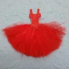 Magnifique robe rouge plumes coquillages topper pour cartes / Artisanat