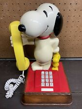 Vintage 1976 Snoopy + Woodstock Touch Tone Phone American Telecommunications Co.