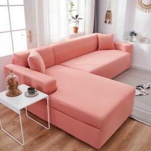 Corner Sofa Cover Elastic Spandex Sofa Cover Stretch Slipcovers for L Shape Sofa