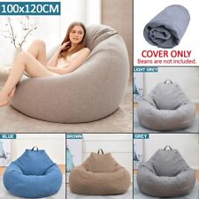 Bean Bag Extra Large Adult Chair Lazy Sofa Cover Indoor Outdoor Game Seat