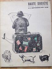 Rare Lithographie de Topor 1960 Genet Cau Vilmorin Burroughs Folon Halévy Bosc