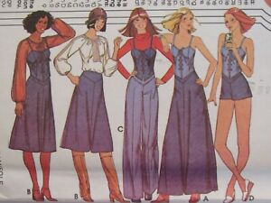 VTG 76 McCALLS 5392 Misses Blouse Camisole Skirt Pants & Shorts PATTERN 8-10-12
