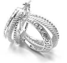 New! Authentic! Carrera Y Carrera Melodia 18k White Gold Earrings