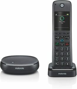 MOTOROLA Smart Cordless Phone & Answering System with Built-in Alexa Voice NEW