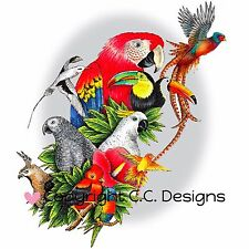 Bird Aviary, Cling Unmounted Rubber Stamp C.C. DESIGNS - New, JD1062