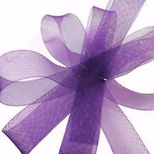 "25 yards Roll  1.25"" (3 cm) Royal Purple Horsehair Braid / Crinoline Trim"