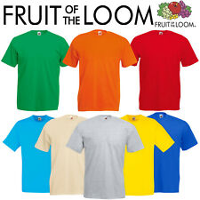 FRUIT OF THE LOOM Mens Womens Plain 100% Cotton T-Shirt • 17 COLOURS • S - 5XL