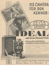 Y6749 ZEISS Ikon Ideal - Pubblicità d'epoca - 1929 Old advertising