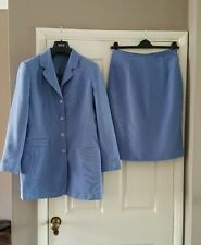 Skirt suit in blue size 14, fully lined jacket and skirt. By Debenhams.
