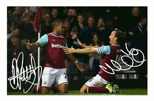 WEST HAM UNITED - DIMITRI PAYET & MARK NOBLE SIGNED A4 PP POSTER PHOTO