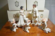 Lenox Disney Showcase Collection Snow White , Prince & 3 Dwarfs w/ boxes & COA