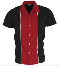 RETRO BOWLING SHIRT by RELCO 100% COTTON SHIRT Short Sleeve   Sizes Medium - 3XL