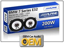 """BMW 7 E32 Serie Cavalletto Pannello SPEAKER Alpine 13cm 5.25 """" altoparlante auto"""