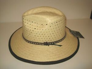 Dorfman Pacific deluxe Straw outback western hat made in mexico