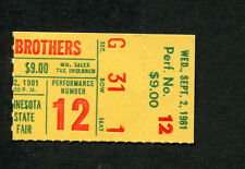 Original 1981 Doobie Brothers Concert Ticket Stub Minnesota One Step Closer