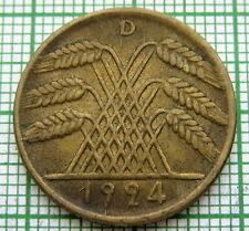 GERMANY WEIMAR REPUBLIC 1924 D 10 REICHSPFENNIG