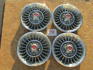 "1966, 1967 PLYMOUTH I, II, III, SPORT FURY 14"" FIN STYLE WHEEL COVERS, HUBCAPS"