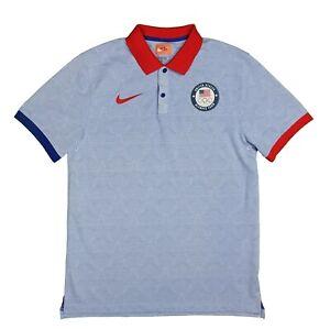 Nike Team USA Premium Golf Polo Olympics Casual Slim Fit Medium