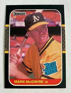 MLB MARK MCGWIRE Oakland A's 1987 Donruss Rated ROOKIE Baseball Trading CARD #46