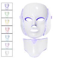 7 couleurs LED photon visage cou masque appareil de thérapie de la peau