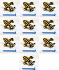 25 Fleur De Lis Drawer Cabinet Knobs Pulls Gold Pull Decor Vintage Restoration
