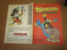 WALT DISNEY ALBO D'ORO N°13 TOPOLINO E L'ELEFANTE 31-03-1950 1°RISTAMPA