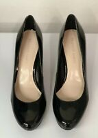 Franco Sarto black patent leather, platform, high heels/pumps women's size 10