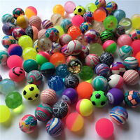 10X Mixed 30mm Bounce Balls Multi-Colored Elastic Juggling Jumping Balls Toy pl