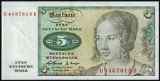 More details for 1960   germany federal republic 5 deutsche mark banknote   banknotes   km coins