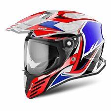 Airoh CMCA55 Helmet Motorbike off Road Commander Carbon Red Gloss XL