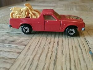 1977 Matchbox Superfast No 60 Holden Pick Up Truck with Yellow Motorcycles