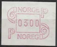 Noorwegen postfris automaatzegels 1986 MNH A3 (08)