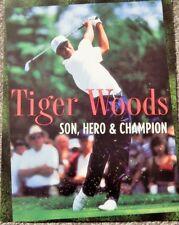 Tiger Woods: Son Hero & Champion (1997; Video Dealer Brochure) Nice Photos Rare