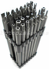 "32 Pc Extra Long 6"" Security Bit Set Tamper Proof Hex Torx Star Tri Wing Pozi"