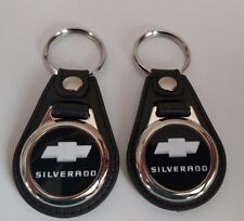 CHEVY SILVERADO KEYCHAIN fob 2 pack white and black