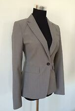 NWOT BANANA REPUBLIC Lightweight Wool Grey Pinstripe Stretch Blazer Jacket XS 0