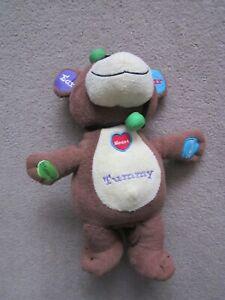 Talking educational plush toy bear
