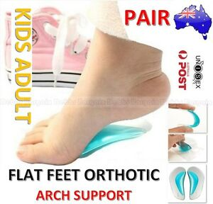 KIDS ADULT FLAT FEET ORTHOTIC ARCH SUPPORT SHOE INSOLE GEL PADS PAIN RELIEF-PAIR