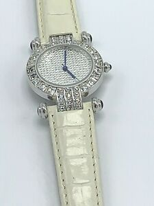 Adrienne Womens Leather Watch with Crystal Japan Movement