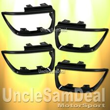 FOR 10-13 CHEVY CAMARO BLACK TAIL LIGHTS FRAME TRIM BEZEL MOLDING 4 PIECES SET