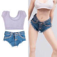1/6 12 '' Weibliche Action Figur Kleidung Crop Top Hot Vest T Shirt Shorts Für