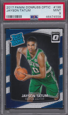 2017-18 Donruss Optic #198 Jayson Tatum Boston Celtics RC Rookie PSA 9 MINT