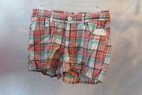 New Girls Arizona  Plaid  Shorts Size 12.5 Plus
