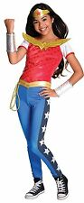 Wonder Woman DC Super Heroes Full Complete Dress Up Costume Sz Medium 8-10 B073