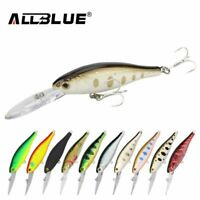 60mm Floating Fishing Lures Shad Artificial Bait Eyes Wobbler Bass Lure Tackle