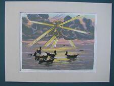 Fumio Kitaoka - Morning of the Sea - 1976 - Beautiful Early Woodblock Print
